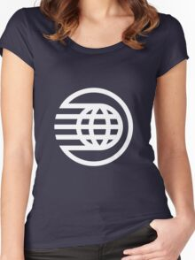 Spaceship Earth Classic Logo Women's Fitted Scoop T-Shirt