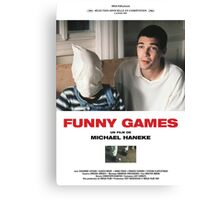 Funny Games Poster Canvas Print