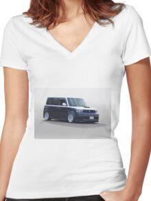 Scion Custom Box Car 1 Women's Fitted V-Neck T-Shirt