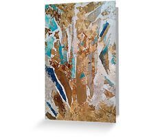 Snow spaces in sea and sand Greeting Card