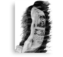Harry Styles' tattoos Canvas Print