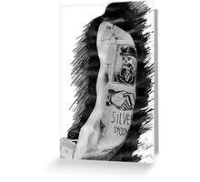 Harry Styles' tattoos Greeting Card