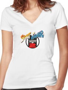 Street Fighter Zero 2 Women's Fitted V-Neck T-Shirt