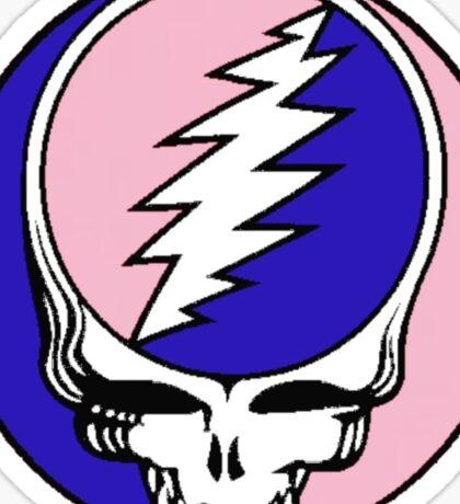 Grateful Dead Logo Pink and Blue Sticker