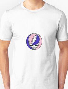 Grateful Dead Logo Pink and Blue Unisex T-Shirt