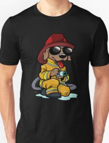 Firefighter cartoon dog T-Shirt
