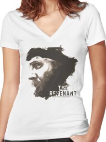 The Revenant Movie logo face Tom Hardy Women's Fitted V-Neck T-Shirt