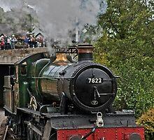 Locomotive Steam Train Llangollen Railway Station by Artification