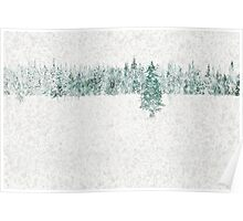 Snow Pines Poster