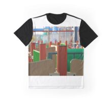 Colored Lines Graphic T-Shirt
