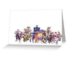Street Fighter Collage Greeting Card