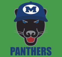 Midlothian Panther Blue Hat Kids Tee