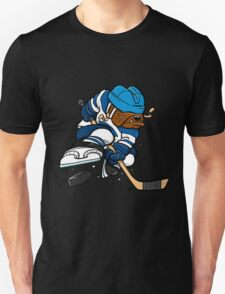 Ice Hockey cartoon dog T-Shirt