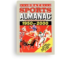Grays Sports Almanac - Back to the Future Canvas Print