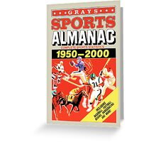 Grays Sports Almanac - Back to the Future Greeting Card