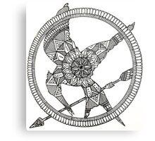 Hunger Games mandala design. Metal Print