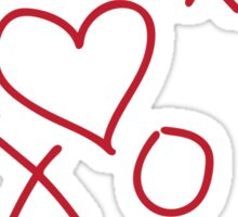 xoxo Heart Red Sticker