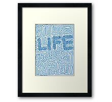 Life Puzzle Framed Print