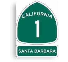 PCH - CA Highway 1 - Santa Barbara Canvas Print