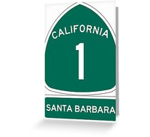 PCH - CA Highway 1 - Santa Barbara Greeting Card