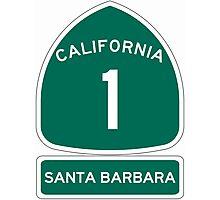 PCH - CA Highway 1 - Santa Barbara Photographic Print