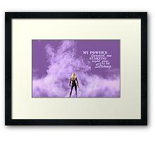 Emma Swan Curse Framed Print