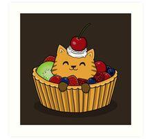 Kitty Tart Art Print