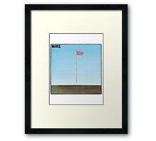 Wire - Pink Flag Framed Print