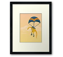 Patagonykus is Parachuting Framed Print