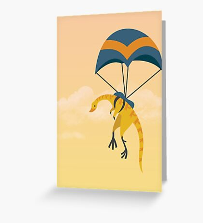 Patagonykus is Parachuting Greeting Card