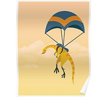 Patagonykus is Parachuting Poster