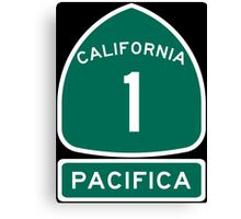 PCH - CA Highway 1 - Pacifica Canvas Print