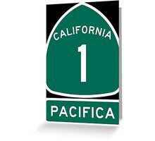 PCH - CA Highway 1 - Pacifica Greeting Card