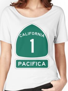 PCH - CA Highway 1 - Pacifica Women's Relaxed Fit T-Shirt