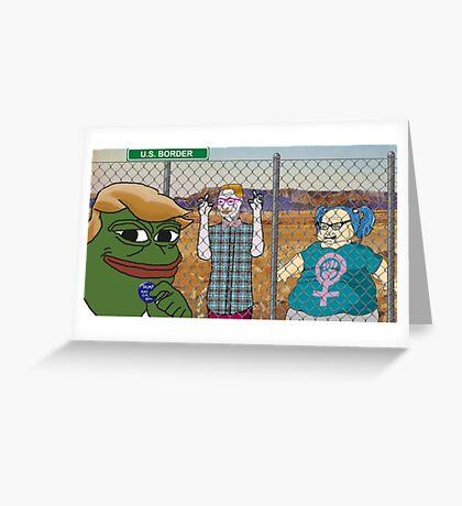Donald 'Pepe' Trump the Smug Frog Greeting Card