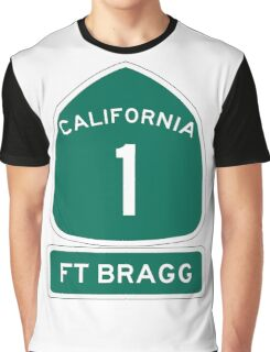 PCH - CA Highway 1 - Ft Bragg  Graphic T-Shirt