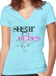 The Sugarcubes - Life's Too Good Women's Fitted V-Neck T-Shirt