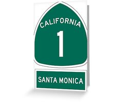 PCH - CA Highway 1 - Santa Monica Greeting Card
