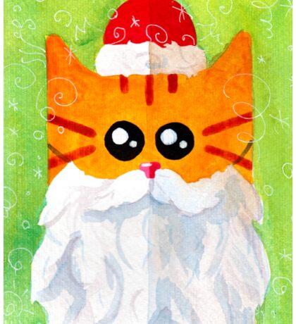 Christmas Red Cat Santa Sticker