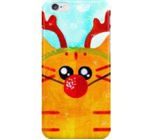 Christmas Red Cat Deer iPhone Case/Skin