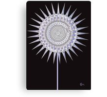 Art Deco Bloom No. 4 Lavender Sun Flower Canvas Print