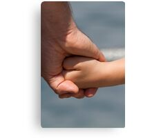 hand of father and son Canvas Print