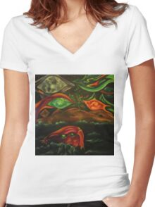 Lachrymology V: Treasures of the Hybrid Community Women's Fitted V-Neck T-Shirt