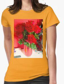 Rosebud. Womens Fitted T-Shirt
