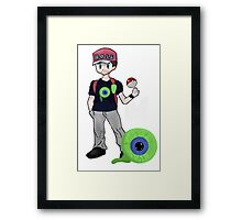 Jacksepticeye Pokemon Trainer Framed Print