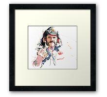 Lemmy. Lead singer of Motorhead. Framed Print