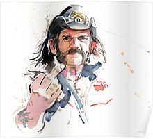 Lemmy. Lead singer of Motorhead. Poster
