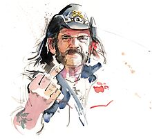 Lemmy. Lead singer of Motorhead. Photographic Print