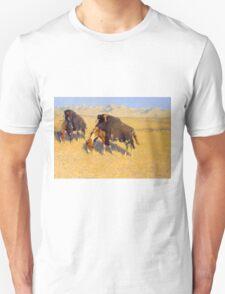 Indians Simulating Buffalo by Frederic Remington (1908) Unisex T-Shirt