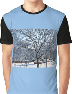 A Winter Street Scene Graphic T-Shirt